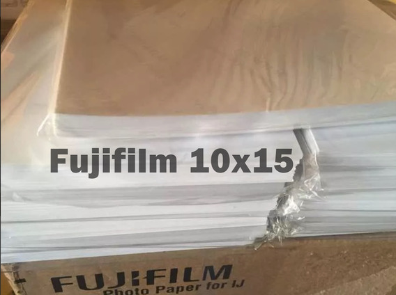 Papel Original Fujifilm Marca Dágua Inkjet 10x15 100 Folhas
