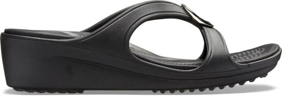 Crocs Sanrah Liquid Metallic Wedge W