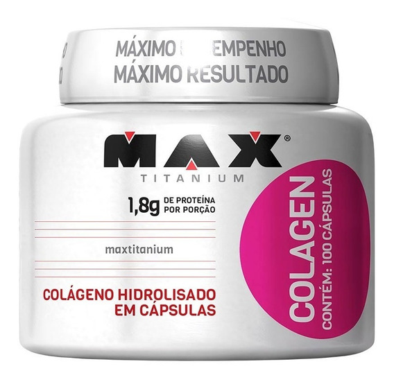 Colágeno Hidrolisado - 100 Capsulas - Max Titanium