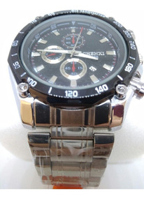 Relógio Masculino Chenxi Original Prata Luxo + Brinde!! !