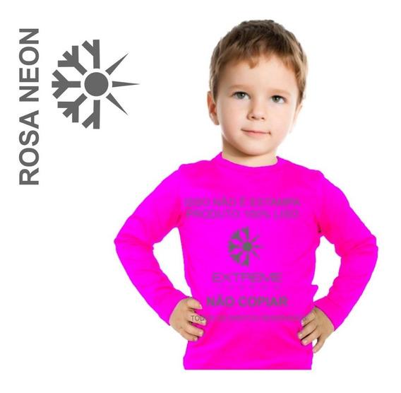 Camisa Segunda Pele Térmica Proteção Uv Extreme Kids