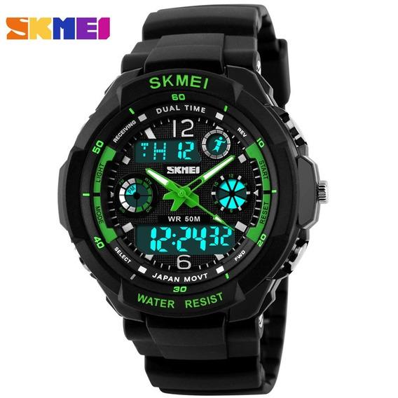 Relógio Skmei Modelo 0931 Cronógrafo Alarme Barato Belo