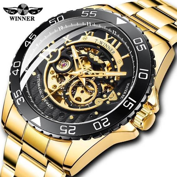 Relógio Masculino Automático Winner Original Esqueleto