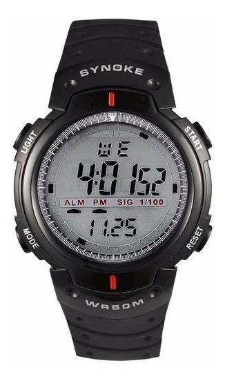 Relógio De Pulso Esportivo Preto Cronometro Alarme Pulseira