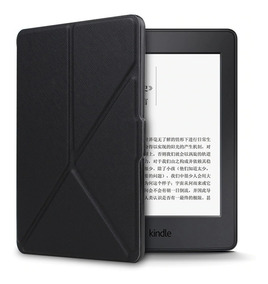 Capa Para Kindle Dobravel Paperwhite Preto On/off + Brinde