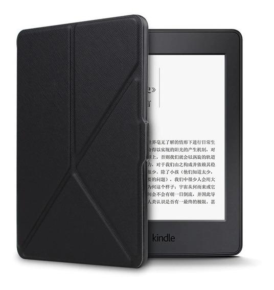 Capa Para Kindle Dobravel Paperwhite Preto On/off + Brinde