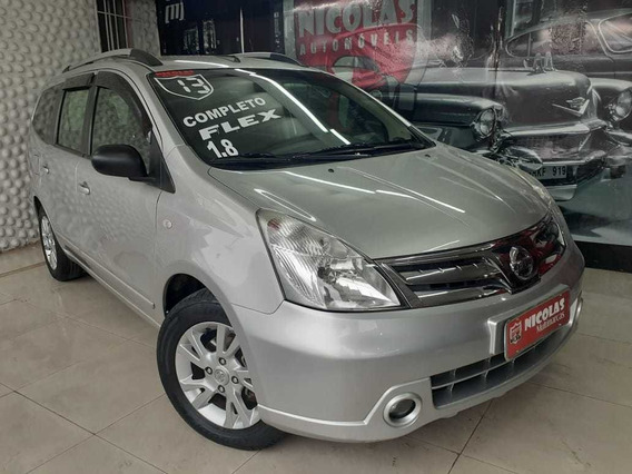 Nissan Grand Livina S 1.8 Manual 7l Prata - 2013
