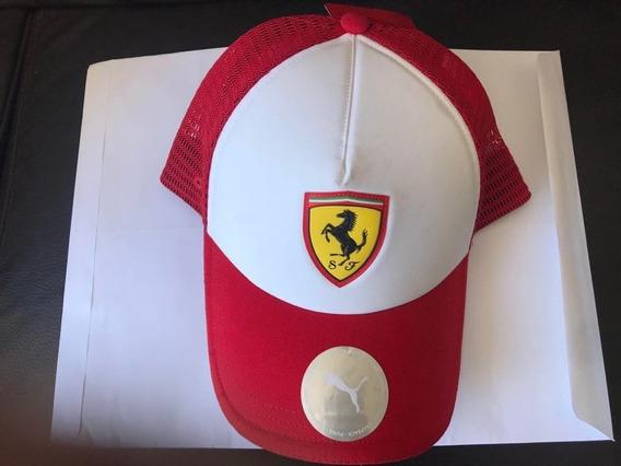 Gorra Ferrari Puma Roja Arpilla Vice Curva Originaletiquetas