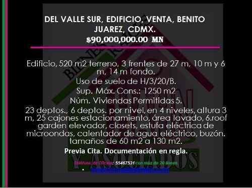 Del Valle Sur, Edificio, Venta, Benito Juarez, Cdmx.