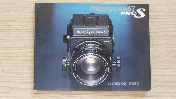 Manual De Instruções Mamiya Rb67 Pro S Em Italiano