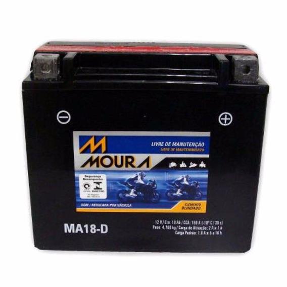 Bateria Moura Ma18-d Harley Davidson Deluxe/dyna/fat Boy