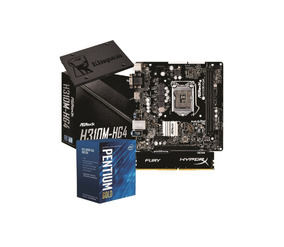 Kit Intel Pentium G5400 H310m Hg4 4gb Fury Ssd Kg120gb