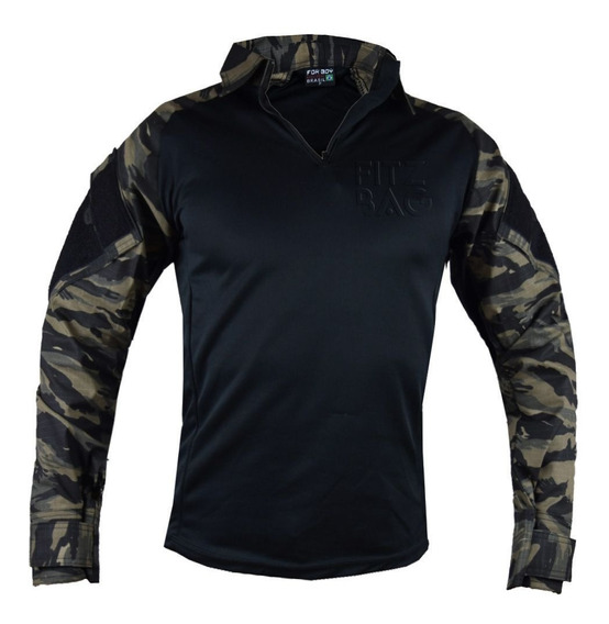 Camisa Combat T-shirt Militar Tática Camuflada Fox Boy