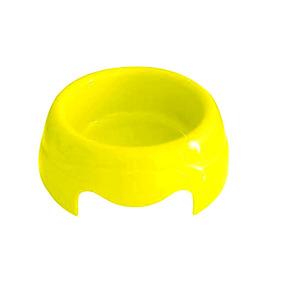 Comedouro Para Cachorros E Gatos De Plástico 1 Litro Amarelo