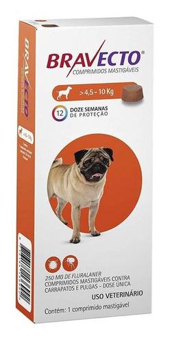 Bravecto Antipulgas Shih Tzu Apso Para Cães De 4,5 A 10 Kg -
