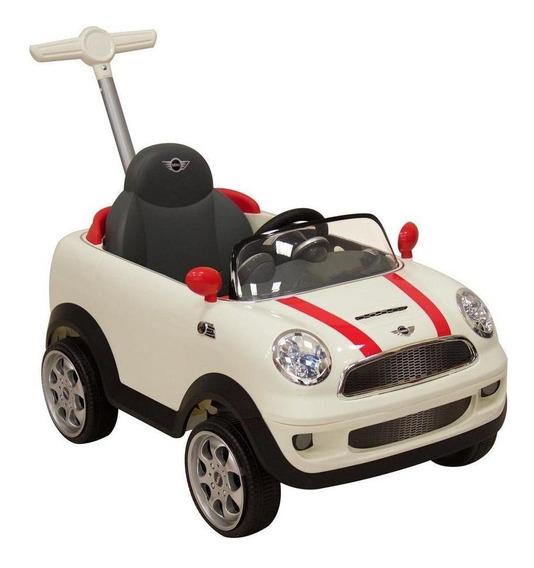 Montable Push Car Mini Cooper Blanco
