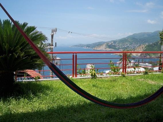 Casona Con Vista Al Pacifico, 6 Rec Acapulco Tradicional. Venta Y Renta !!