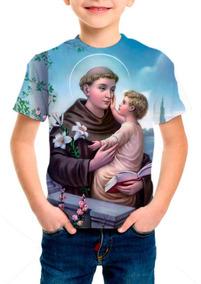 Camiseta Infantil Santo Antônio De Pádua - M001