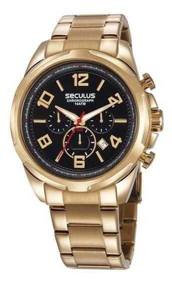 Relógio Seculus Masculino Cronógrafo 28958gpsvda1