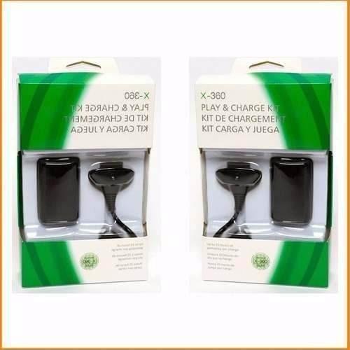 Kit 2 Baterias Carregador Controle Xbox 360 Sli 360 Slim