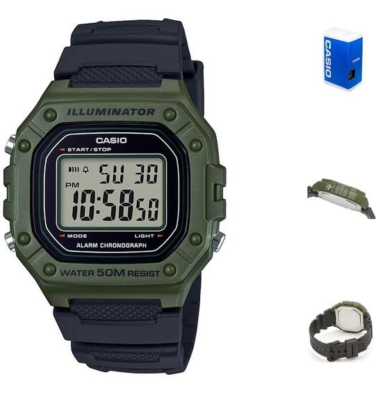 Reloj Casio Digital W218 3a Hombre Correa Resina Negra