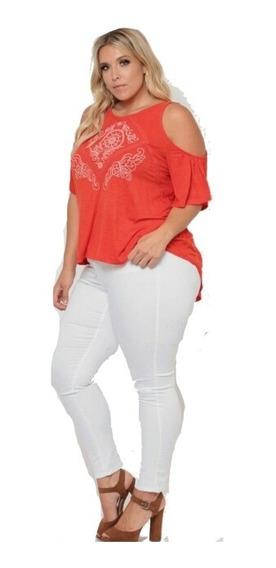 Jeans Talles Grandes De Mujer Elastizado Color Camel Verde