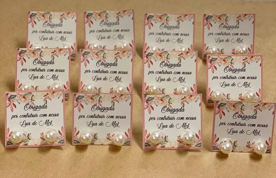 60 Brincos Perola Lembrancinha Hora Do Sapatinho Noiva