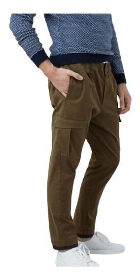 Pantalones Caballeros Mng Verde - Talla 28