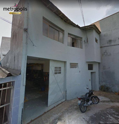 Galpão Para Locação, 182 M² Por R$ 4.000,00 Santo Antônio - São Caetano Do Sul/sp - Ga0062