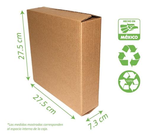 Caja Para Envios E-commerce 15 Pzas 27x27x7 Cm Corrugado