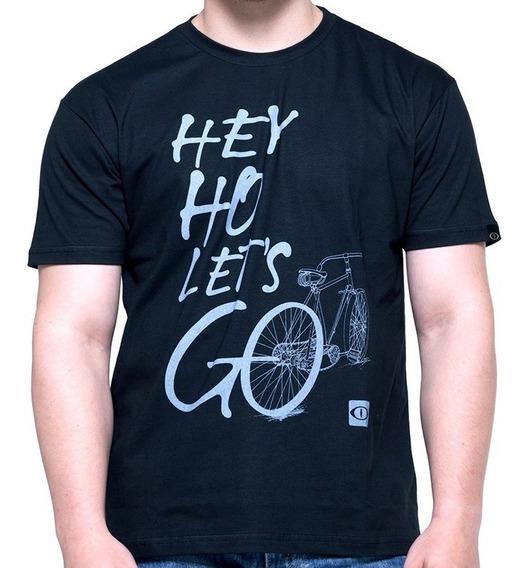 Camiseta De Algodão Let´s Go Bike Preta