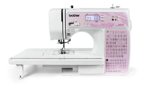 Imagem 1 de 1 de Máquina De Costura Brother Sq9100 Branca E Rosa 110v/220v