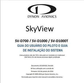 Manual Em Português Dynon Avionics Sv-d700 / Sv-d1000