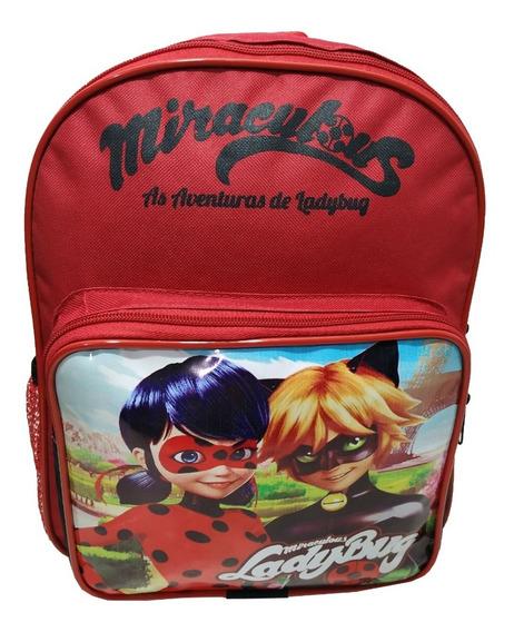 Mochila Infantil Pequena Miraculous As Aventuras De Ladybug