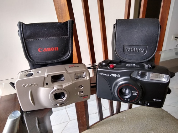 2 Câmeras Fotograficas Yashica E Canon
