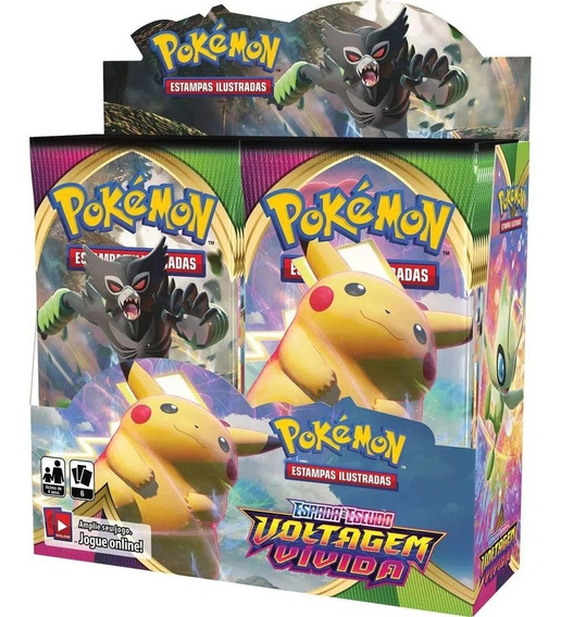 Card Game Pokemon Voltagem Vívida Ee4 Booster Display Box