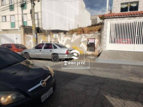 Terreno À Venda, 300 M² Por R$ 475.000,00 - Vila Helena - Santo André/sp - Te1164