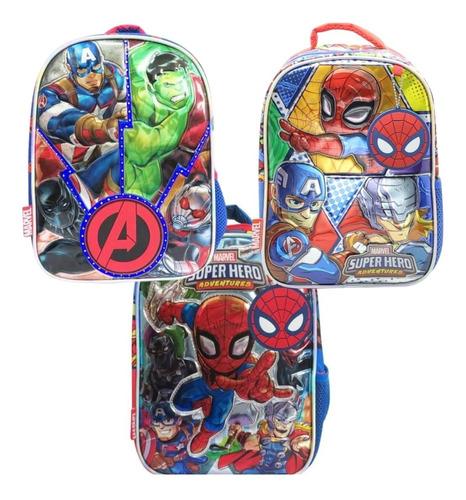 Mochila Vengadores Spiderman Jardin Espalda 12p Ct Plumitaa
