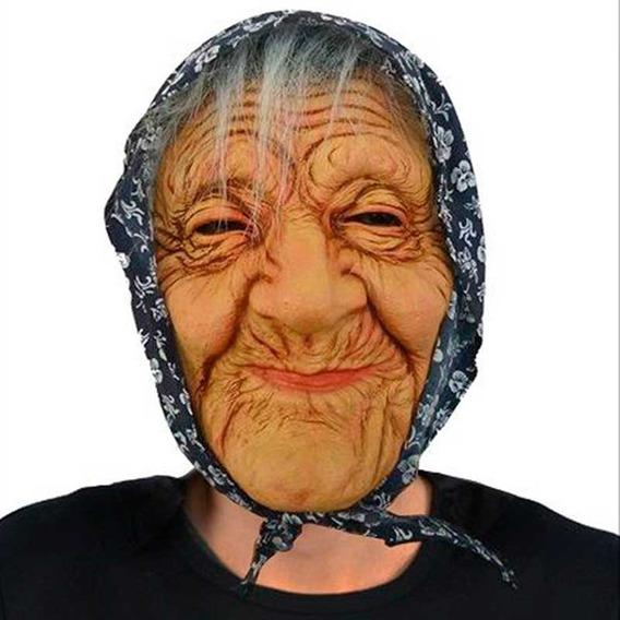 Máscara Bruja Abuela Abuelita Disfraz Halloween Upd Egresado