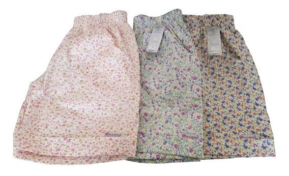 Short Bermuda Feminina Plus Size Tamanho Grande Kit C/3