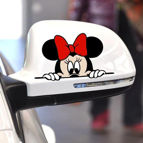 Minnie Mouse Disney Desenho Retovisor Carro Moto Casa Biz