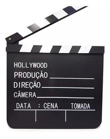Claquete De Cinema Para Filmagens E Decorações 20 Cm X 18 Cm