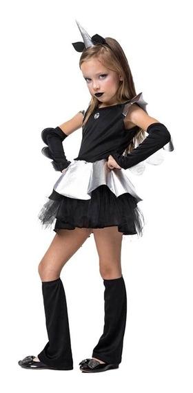 Roupa De Unicórnio Negro Pro Halloween Infantil P/ Entrega