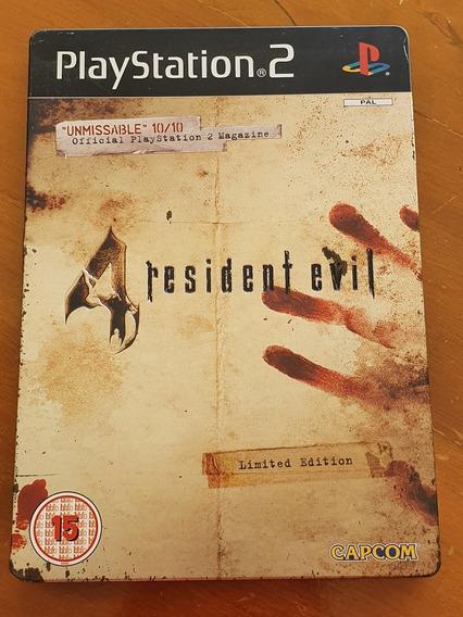 Resident Evil 4 Box Metal Ps2 Europeu Original
