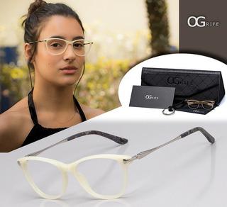 Armação Oculos Ogrife Og 770-c Feminino Com Lente Sem Grau