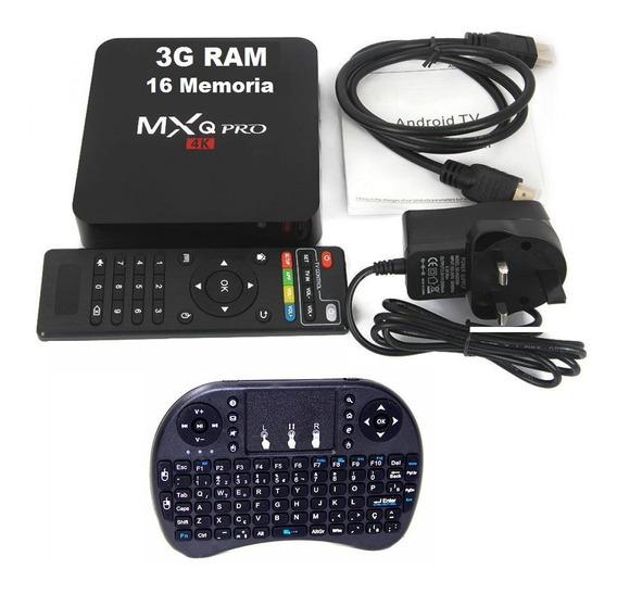 Aparelho Transforma Tv Comum Em Tv Smart 3g+16 8.1 +teclado