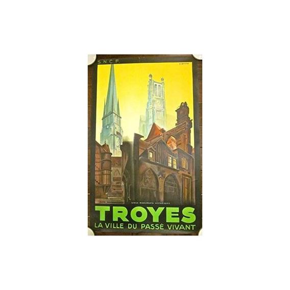 Descuento 125 Cartel De Viaje Francés 1930 - Raro Colorido R
