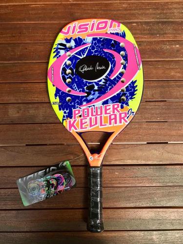 Imagen 1 de 1 de Raqueta De Beach Tennis Vision Power Kevlar Jr.