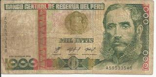Mil Intis 1000 Intis Peru Año 1986