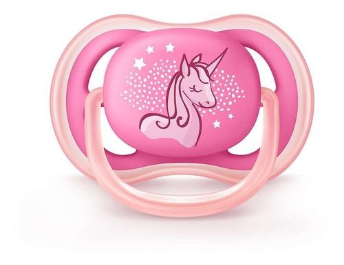 Chupete Ultra Air Avent Unicornio De 6 A 18 Meses Rosa